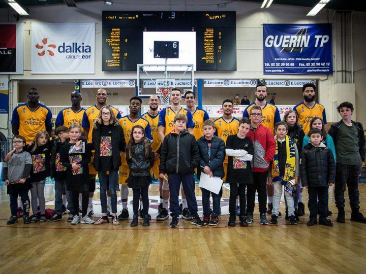 L'ALM Évreux Basket invite nos jeunes de la maison d'enfants à caractère social