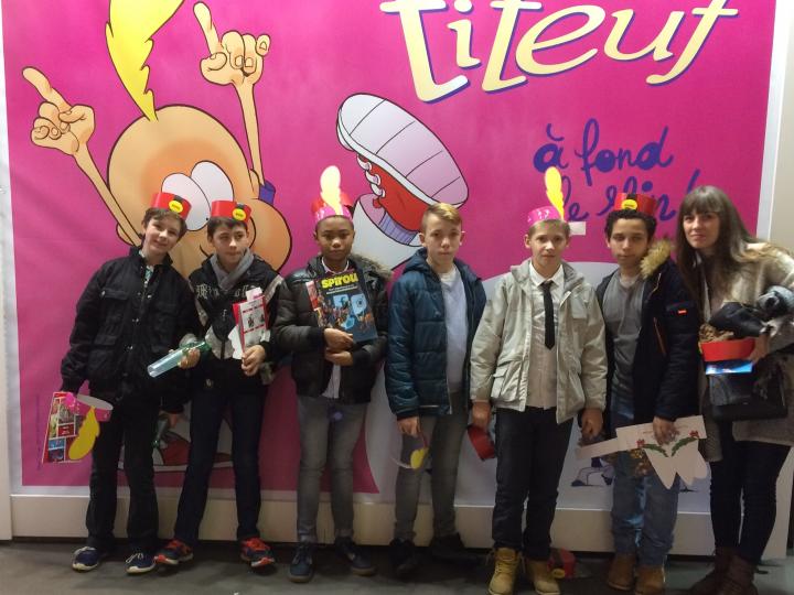 Les jeunes de Pellevoisin au 46ème festival de la BD d'Angoulême !!!